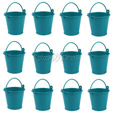 12 Mini Small Favors Candy Box Pail Wedding Party Gifts Souvenirs Bucket Pails