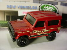 2016 Matchbox LAND ROVER 90 ninety☆red;PAYNE & SONS CONSTRUCTION☆Loose Matchbox