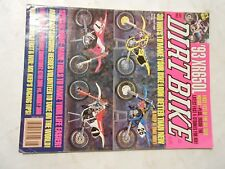 AUGUST 1992 DIRT BIKE MAGAZINE,HONDA XR650L,OPEN BIKES KTM300 VS HUSKY 360,AMA