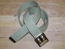 """Web Belt Military Style Buckle Uniform 100% Cotton for Marine Army Sport 54"""" P38"""