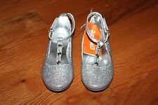 NWT Gymboree Holiday Gems Size 8 Silver Glitter Sparkle T Strap Dress Shoes