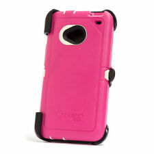 Otterbox Defender Rugged Protection Case Cover For HTC One M7 Pink NEW