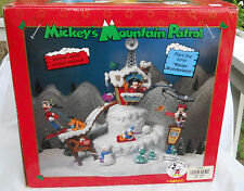 ENESCO MICKEY'S MOUNTAIN PATROL DELUXE MULTI ACTION MUSICAL BOX 1995 RARE