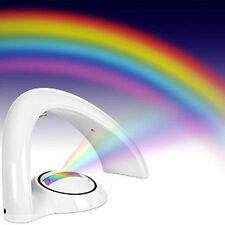 Novelty LED Rainbow Projector Night Light Fairy Colorful Bedroom Decor Lamp Gift