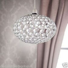 New Home Decor Victoria Diamante Pendant Hanging Light Shade Chrome