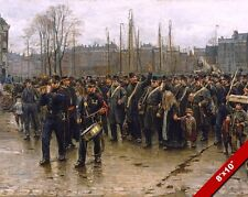 DUTCH COLONIAL SOLDIERS MILITARY MARCH WAR HISTORY ART PAINTING CANVAS PRINT