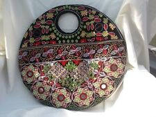 New Embroidered and Hand Beaded Handbag / Tote / Round Purse