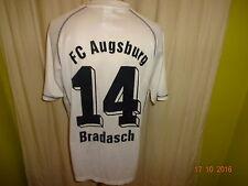 """Fc Augsburg Erima hogar matchworn camiseta 2003/04 """"deuter"""" + nº 14 bradasch talla XL"""