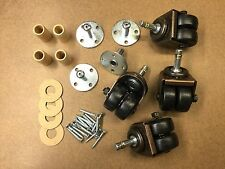 Double/Dual Rubber Wheel Caster Kit For Upright Pianos - 4 casters + hardware