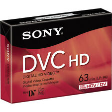 1 Sony HDV HD tape DVM-63HDR Mini DV for Canon HV20 HV30 HV40 XLH1S XH A1 G1 H1
