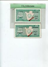 WORLD BANK NOTE - BURUNDI 10 WITH DIFF. GOVERNORS SGN UNC # B108