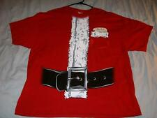 Christmas Holiday Santa Suit Red T-shirt Men's 2XL used