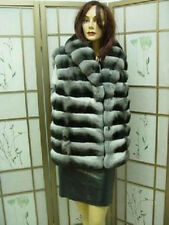 ~ BRAND NEW RANCHED CANADIAN CHINCHILLA FUR VEST JACKET WOMEN WOMAN SIZE ALL