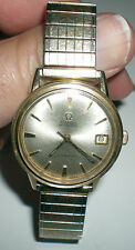 Omega Automatic Seamaster men's 14K gold filled watch 563 works & looks great