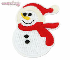 Christmas Snowman Xmas Kawaii Embroidered Iron / Sew-On Patch Badge DIY Stocking