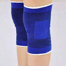 2 Knee Elastic Brace Muscle Support Arthritis Sports Pain Relief Wrap Sleeve FN