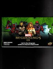 Marvel Beginnings series 3 sealed Box