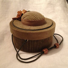 Hat Box Sewing Basket - Pin Cushion Lid