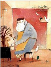 La Adventure di Pinocchio Korean Book Hard Cover Illustration Korea Fairy Tale