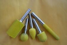 10% discount 5 PC Saburr Tooth Carbide Burrs 1/4 inch shaft Yellow
