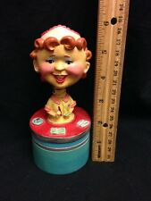 Ceramic Bobble Head Retro Diner Waitress Wine Wobbler Cork Bottle Stopper Gift