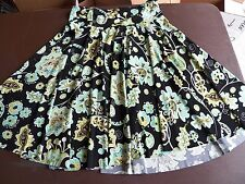 BRIGS NEW YORK - Womens PS Petite Small - Floral Black Polyester Skirt - GUC