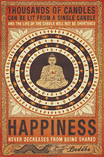 Thousands of Candles Buddha Motivational Poster Print New 24x36 H6