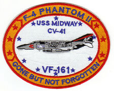 F-4 PHANTOM II PATCH, USS MIDWAY CV-41, VF-162, GONE BUT NOT FORGOTTEN         Y