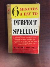 6 Minutes A Day To Perfect Spelling By H. Shefter (Paperback, 1958)