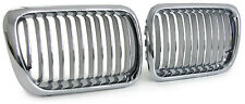 CHROME BONNET GRILLS FOR BMW E36 FACELIFT SALOON COMPACT COUPE & CONVERTIBLE