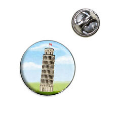 Italy Leaning Tower of Pisa Lapel Hat Tie Pin Tack