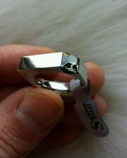 BELLISSIMO anello unisex acciaio diamante green SWAROVSKY steel ring diamond