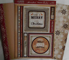 Hunkydory 'A Merry Little Christmas'Card Making Kit.1 topper sheet & 2 cardstock