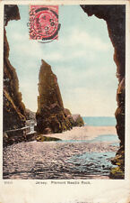 CPA UNITED KINGDOM JERSEY 20415 needle rock plemont stamp 1907