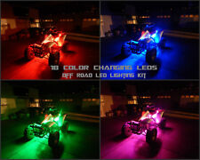 18 Color Wireless Led Kit Raptor 700R Quad 4 Wheeler 6pc Under Body Led Glow Kit
