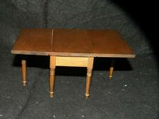 "CDHM vintage dollhouse miniature shereaton wooden gateleg dropleaf table 6""open"
