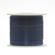 "22 AWG Gauge Solid Hook Up Wire Blue 250 ft 0.0253"" UL1007 300 Volts"