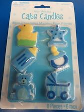 Baby Boy Shower Rubber Duck 1st Birthday Party Decoration Molded Cake Candles