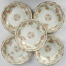 9 Fruit / Dessert Bowls Theodore Haviland Limoges Double Gold Schleiger 340 - PC