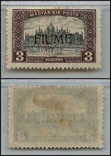 FIUME - 1918/1919 - 3 Korona soprastampato (19) - MH