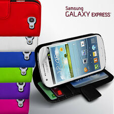 2 Colour Side Wallet Leather Case Cover for Samsung Galaxy EXPRESS / i8730 +SP