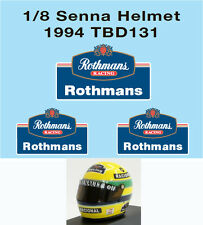1/8 ROTHMANS  AYRTON SENNA HELMET F1 1994 DECALS TB DECAL TBD131