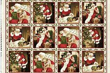 Christmas Fabric - Santa Claus Children Toys MAS8110-E Maywood Studio - Panel
