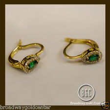 3.02 Carat Emerald Earring in 14k Solid Yellow Gold