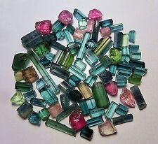 110 cts Top Quality Small Jewelry Size Indicolite & Mix Tourmaline Crystals