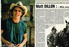 Coupure de Presse Clipping 1982 (2 pages) Matt Dillon