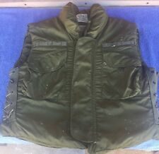 Vintage Body Armor Fragmentation Flak Jacket with 3/4 Collar Large Free Ship