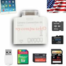 5 in 1 USB Connection Kit Camera Card Reader SD HC TF MS M2 MMC For iPad 1 2 3 4