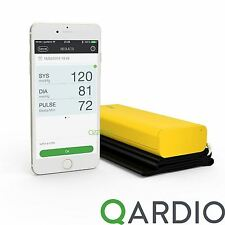 Qardio Arm Wireless Blood Pressure Monitor for iPhone iOS Android, Racing Yellow