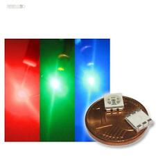 10 x RGB LEDs SMD 5050 3-Chip PLCC6,rojo verde azul,HIGHPOWER SMDs A todo color